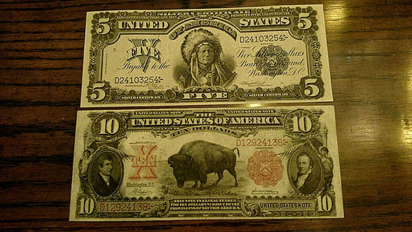 5 and 10 Dollar Silver Certificate