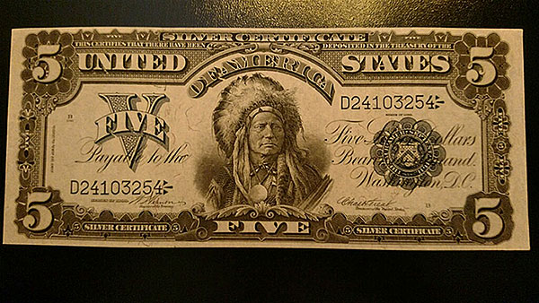 $5 Indian Head Silver Certificate