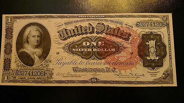 $1 Silver Note Red Seal