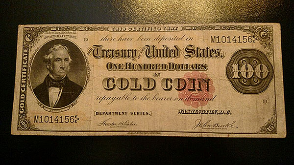 $100 Gold Note Red Seal