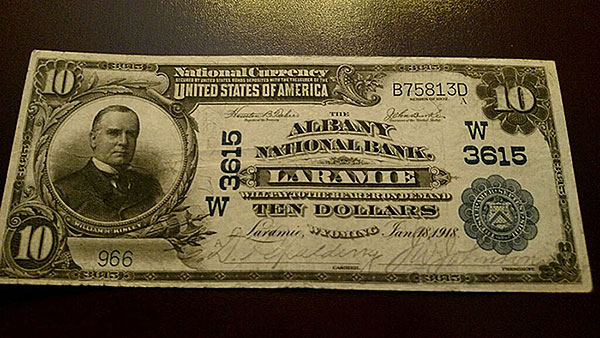 $10 Albany Bank Note