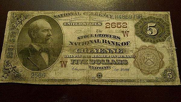 $10 Chyeyenne Bank Note