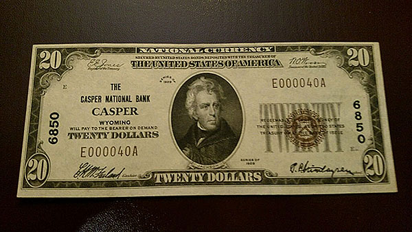 $20 Casper Bank Note