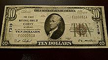 $10 Cody Wyoming Bank Note