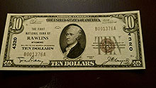 $10 Rawlins Wyoming Bank Note
