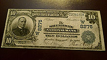 $10 Sheridan Bank Note