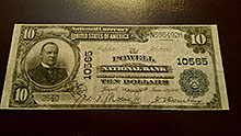 $10 Powell Bank Note