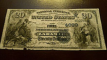 $20 Laramie Wyoming Bank Note