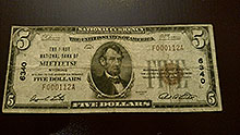 $5 Meeteese Bank Note