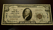 $10 Greybull Bank Note
