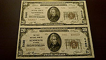 $20 Kemmerer Bank Notes